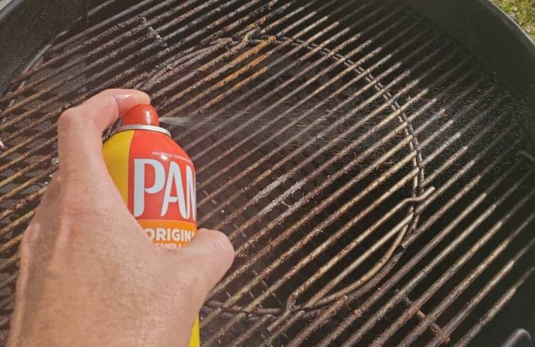 can you spray pam on a grill